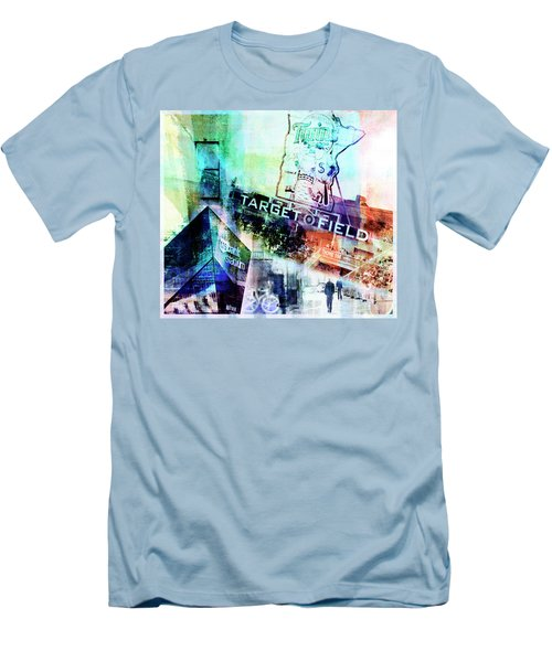 Target Field Us Bank Staduim  Men's T-Shirt (Slim Fit) by Susan Stone