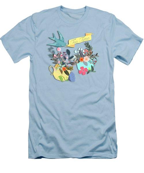 Tea For Two Men's T-Shirt (Slim Fit) by Little Bunny Sunshine