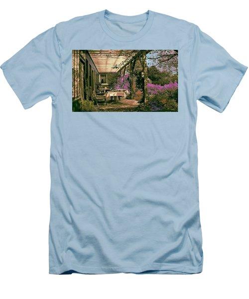 Men's T-Shirt (Slim Fit) featuring the digital art Tea Garden by John Selmer Sr