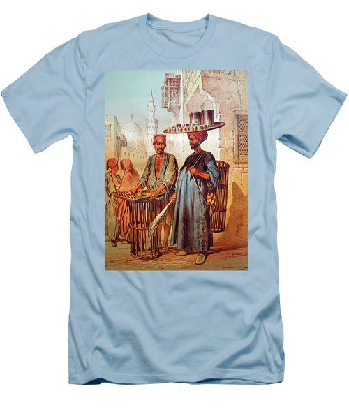 Men's T-Shirt (Slim Fit) featuring the photograph Tea Seller by Munir Alawi