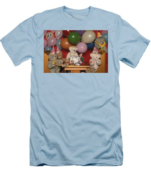Teddy Bear Party Men's T-Shirt (Athletic Fit)