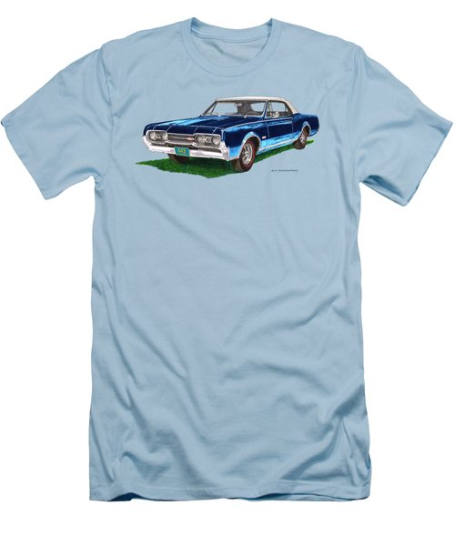 Tee Shirt Art 1967 Oldsmobile 4 4 2 Convertible Men's T-Shirt (Athletic Fit)