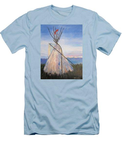 Teepee Dawn Men's T-Shirt (Slim Fit) by Kathryn Barry