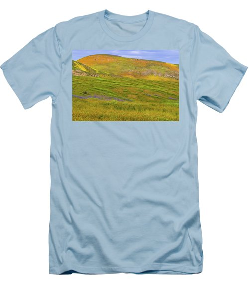 Men's T-Shirt (Slim Fit) featuring the photograph Temblor Range Spring Color by Marc Crumpler