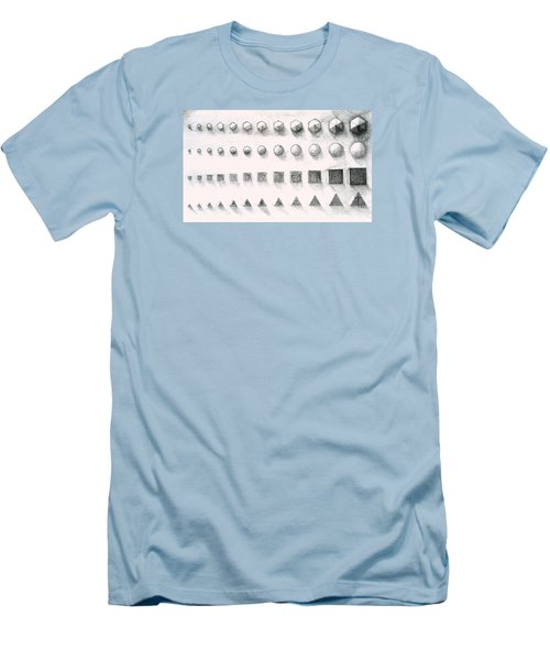 Men's T-Shirt (Athletic Fit) featuring the drawing Template by James Lanigan Thompson MFA