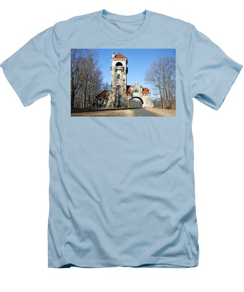 Men's T-Shirt (Slim Fit) featuring the photograph Testimonial Gateway Tower #1 by Jeff Severson