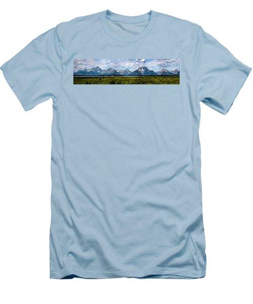Tetons - Panorama Men's T-Shirt (Athletic Fit)