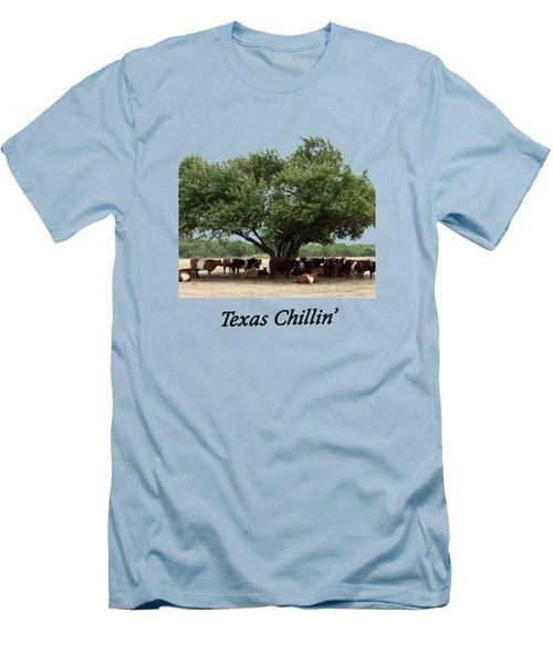 Texas Chillin T Shirt Men's T-Shirt (Athletic Fit)