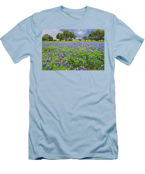 Texas Spring  Men's T-Shirt (Slim Fit) by Lynn Bauer