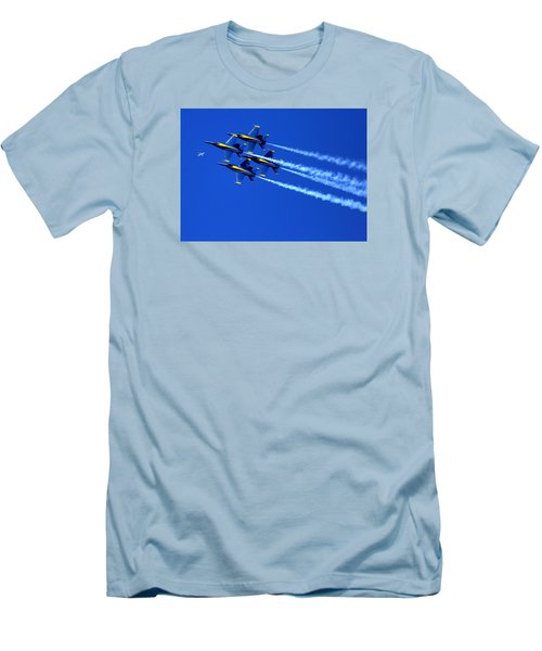 Thanks Goodness For That Fourth Dimension As A Boeing 767 Transitions Above The Box. Men's T-Shirt (Athletic Fit)