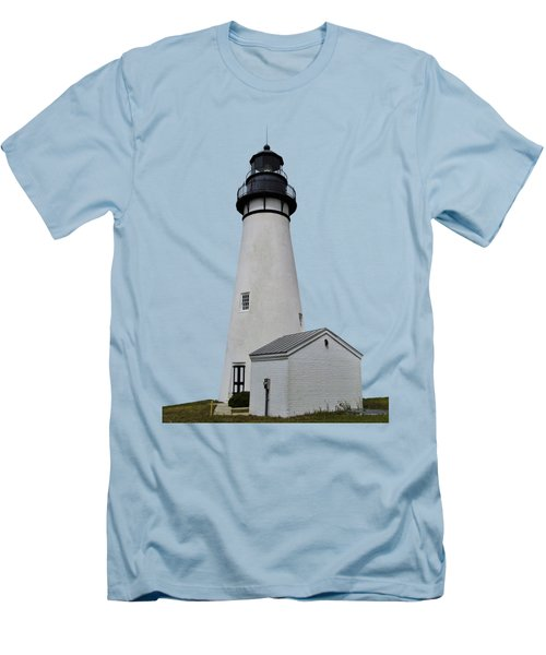 The Amelia Island Lighthouse Transparent For Customization Men's T-Shirt (Slim Fit) by D Hackett