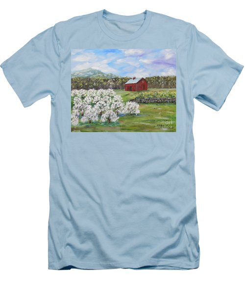 The Apple Farm Men's T-Shirt (Slim Fit) by Stanton Allaben