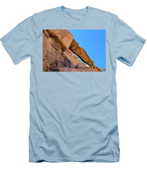 Men's T-Shirt (Slim Fit) featuring the photograph The Arch In Joshua Tree Np by Viktor Savchenko