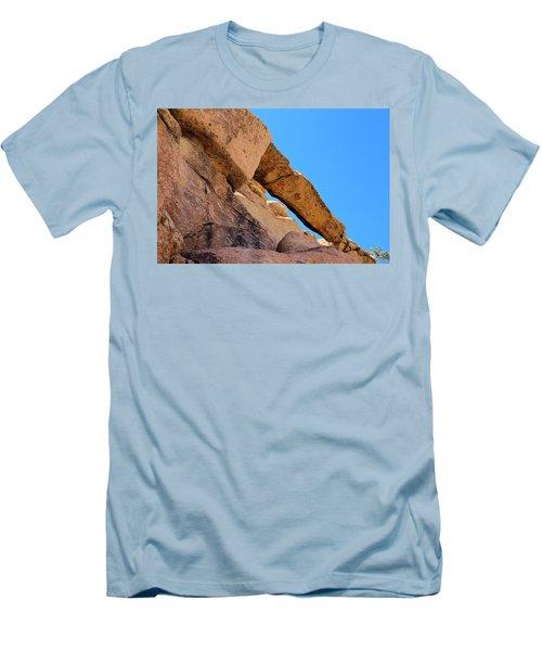 The Arch In Joshua Tree Np Men's T-Shirt (Slim Fit) by Viktor Savchenko