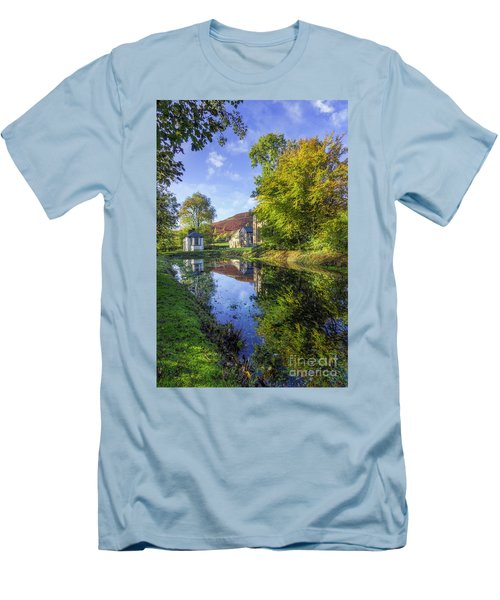 Men's T-Shirt (Slim Fit) featuring the photograph The Autumn Pond by Ian Mitchell