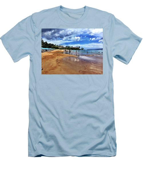 The Beach 2 Men's T-Shirt (Slim Fit) by Michael Albright