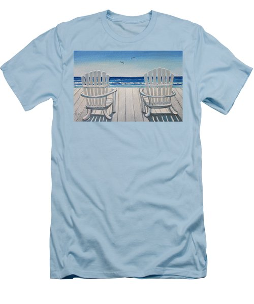 The Beach Chairs Men's T-Shirt (Athletic Fit)