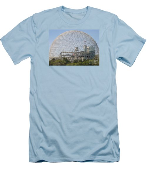 The Biosphere  Ile Sainte-helene Montreal Quebec Men's T-Shirt (Slim Fit) by Reb Frost