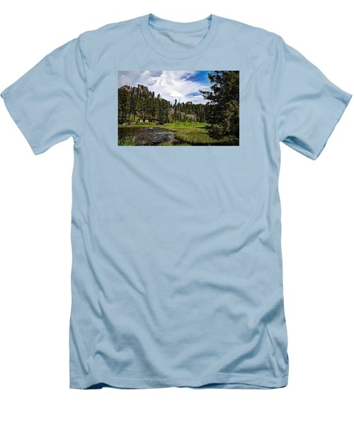 Men's T-Shirt (Slim Fit) featuring the photograph The Black Hills Of Custer State Park by Deborah Klubertanz