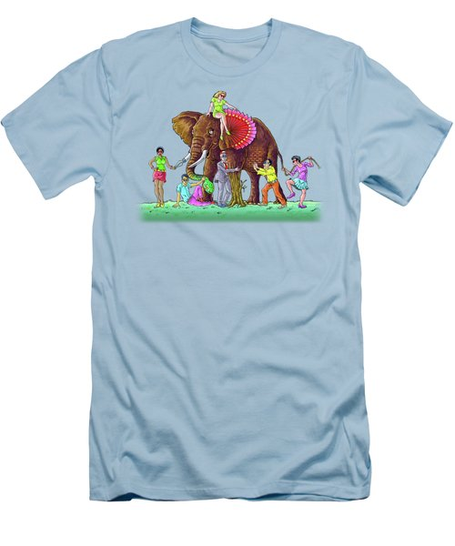 The Blind And The Elephant Men's T-Shirt (Athletic Fit)