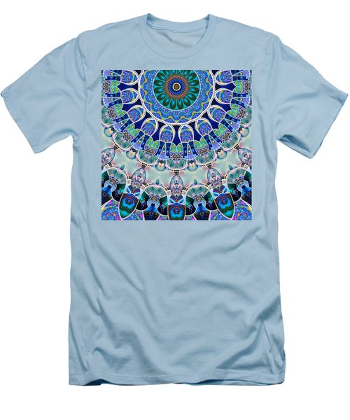 Men's T-Shirt (Slim Fit) featuring the digital art The Blue Collective 02b by Wendy J St Christopher