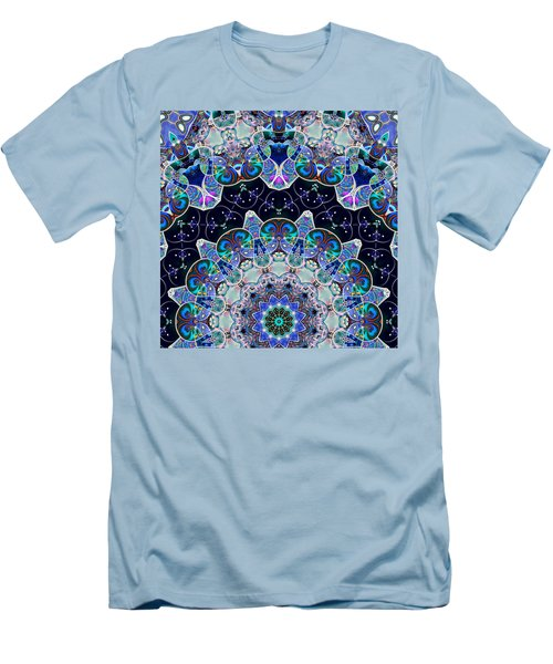Men's T-Shirt (Slim Fit) featuring the digital art The Blue Collective 05b by Wendy J St Christopher