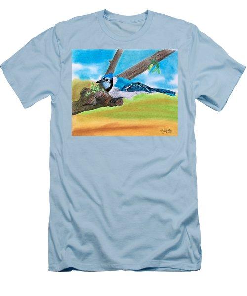 The Blue Jay  Men's T-Shirt (Slim Fit)