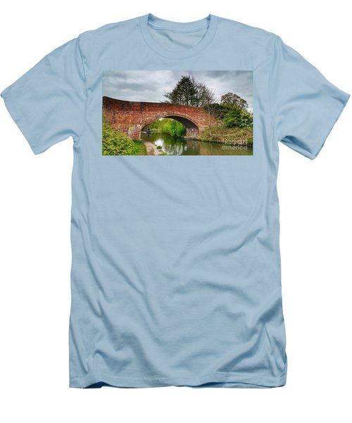 Men's T-Shirt (Slim Fit) featuring the photograph The Bridge by Isabella F Abbie Shores FRSA