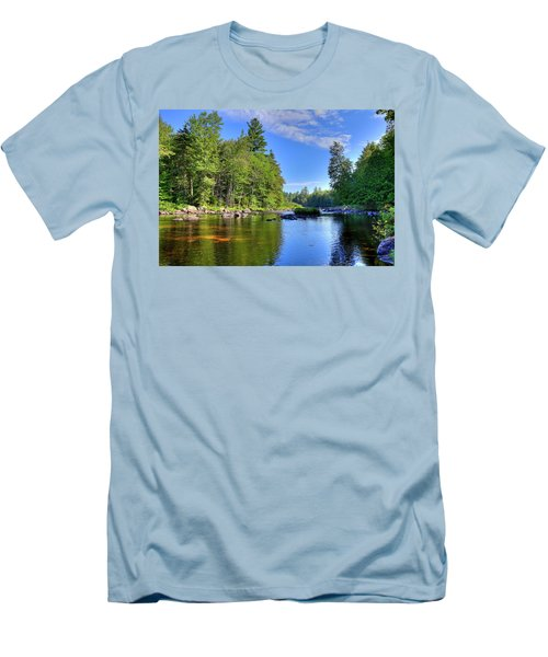 Men's T-Shirt (Slim Fit) featuring the photograph The Calm Below Buttermilk Falls by David Patterson