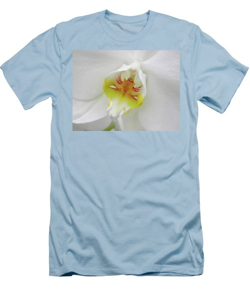 The Cat Side Of An Orchid Men's T-Shirt (Slim Fit) by Manuela Constantin
