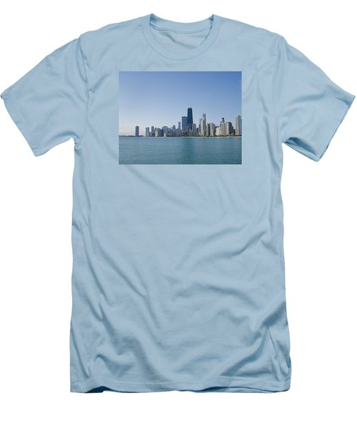 The City Of Chicago Across The Lake Men's T-Shirt (Slim Fit) by Skyler Tipton