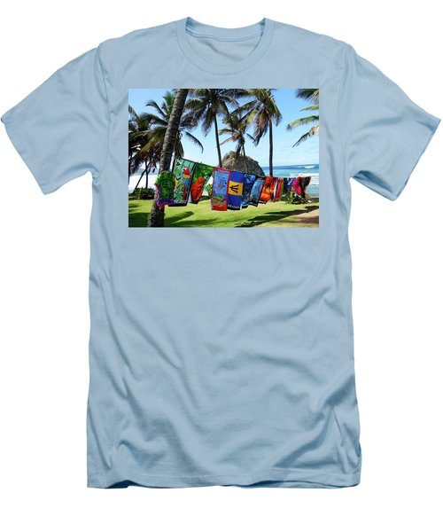 Men's T-Shirt (Slim Fit) featuring the photograph The Colors Of Barbados by Kurt Van Wagner