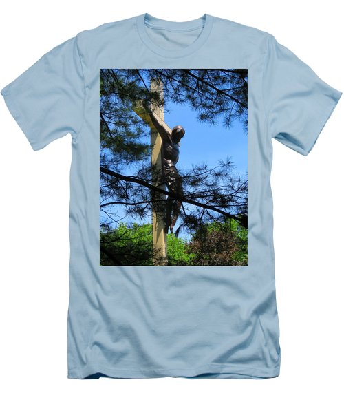The Cross In The Woods Men's T-Shirt (Slim Fit) by Keith Stokes
