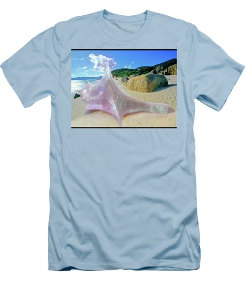 Men's T-Shirt (Athletic Fit) featuring the sculpture The Crystalline Rainbow Shell Sculpture by Shawn Dall