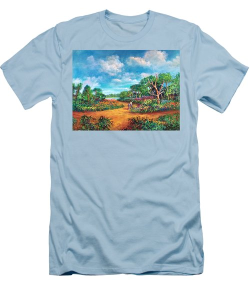 The Cycle Of Life Men's T-Shirt (Slim Fit) by Randy Burns