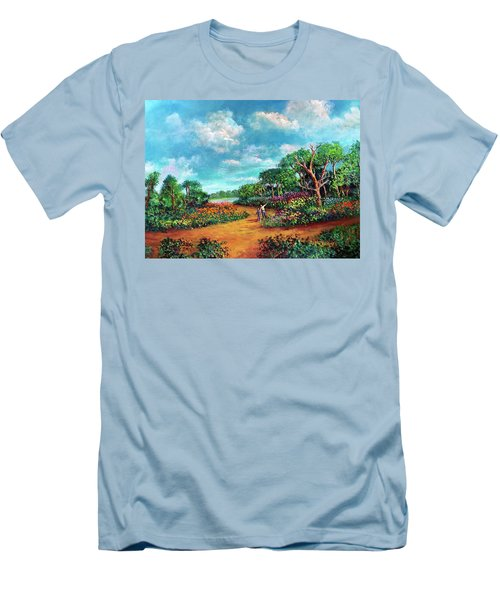 Men's T-Shirt (Slim Fit) featuring the painting The Cycle Of Life by Randol Burns