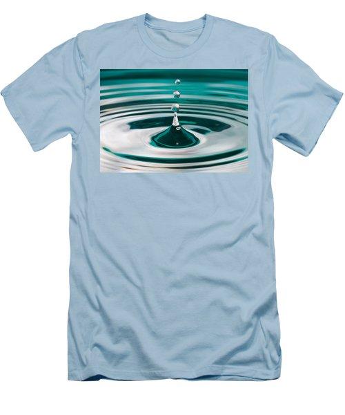 Men's T-Shirt (Slim Fit) featuring the photograph The Drop by Yvette Van Teeffelen
