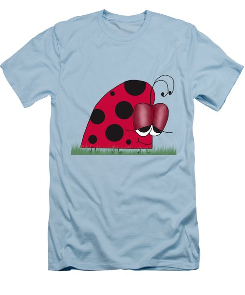 The Euphoric Ladybug Men's T-Shirt (Slim Fit) by Michelle Brenmark