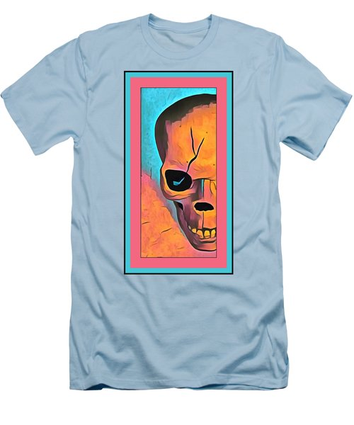Men's T-Shirt (Slim Fit) featuring the digital art The Eye Of Death Abstract Skull by Floyd Snyder
