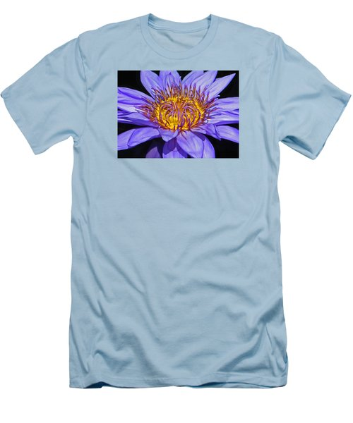 The Eye Of The Water Lily Men's T-Shirt (Slim Fit) by Emmy Marie Vickers