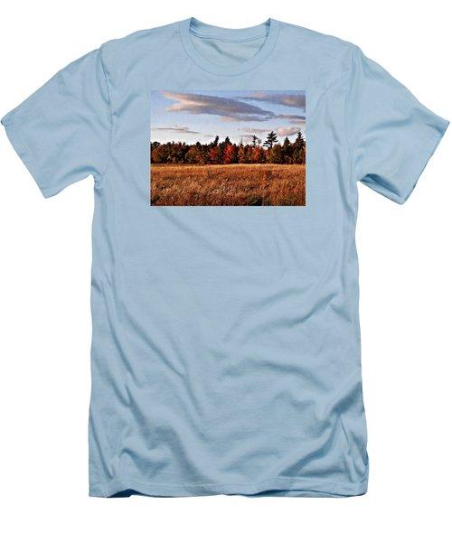 The Field At The Old Farm Men's T-Shirt (Slim Fit) by Joy Nichols