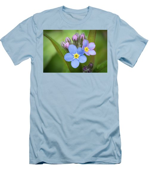 Men's T-Shirt (Athletic Fit) featuring the photograph The First Blossom Of The Forget Me Not by William Lee