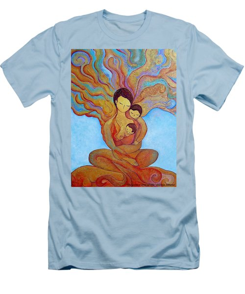 The Golden Tree Of Life Men's T-Shirt (Slim Fit) by Gioia Albano