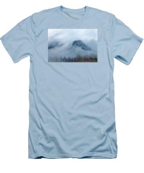 The Gorge In The Fog Men's T-Shirt (Slim Fit) by Debra Baldwin