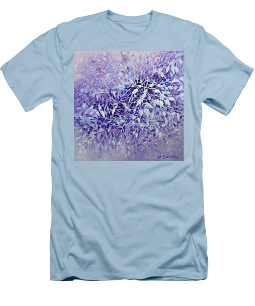 Men's T-Shirt (Slim Fit) featuring the painting The Healing Power Of Amethyst by Joanne Smoley