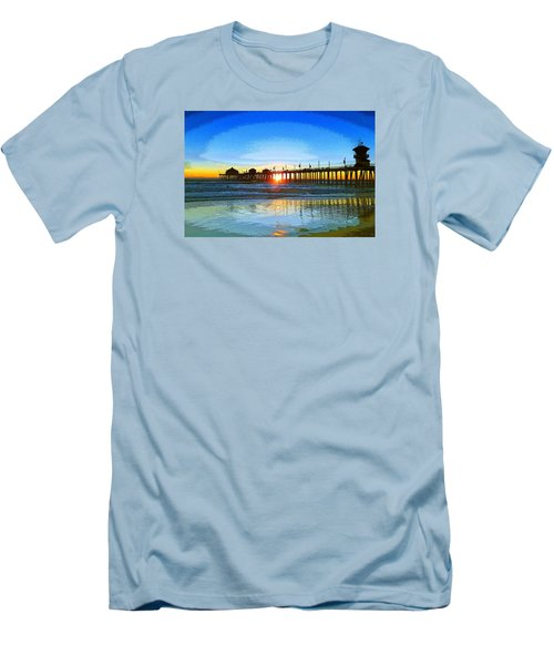 The Huntington Beach Pier Men's T-Shirt (Athletic Fit)