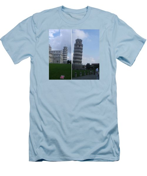 The Leaning Tower Of Pisa Men's T-Shirt (Slim Fit) by Patsy Jawo