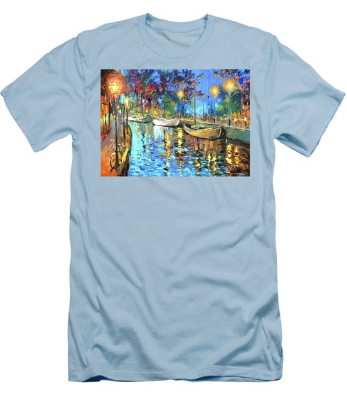 The Lights Of The Sleeping City Men's T-Shirt (Slim Fit)