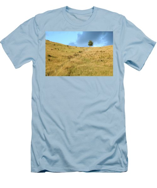 The Lines The Tree And The Hill Men's T-Shirt (Slim Fit) by Yoel Koskas