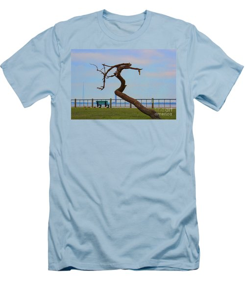 The Lone Tree Men's T-Shirt (Slim Fit) by Roberta Byram